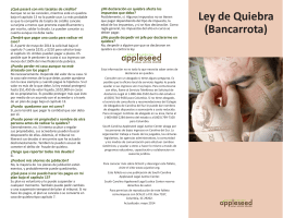 Ley de Quiebra - South Carolina Appleseed Legal Justice Center
