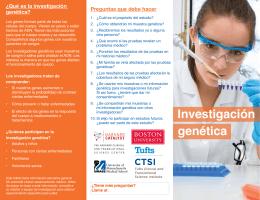 Qué es la investigación genética?