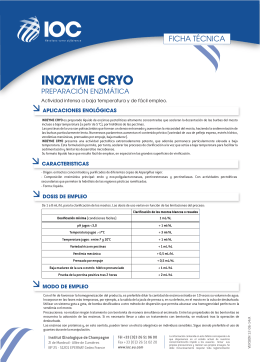 FT INOZYME CRYO (ES) - Institut Oenologique de Champagne