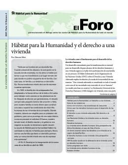 Hábitat para la Humanidad y el derecho a una vivienda