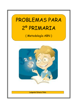 PROBLEMAS PARA 2º PRIMARIA