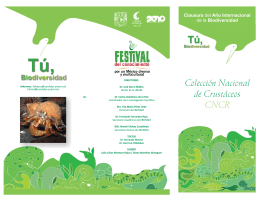 Folleto Colección Nacional de Crustáceos(CNCR)