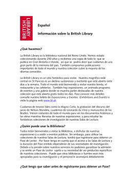 Español Información sobre la British Library