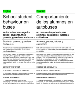 School Student Behaviour on Buses