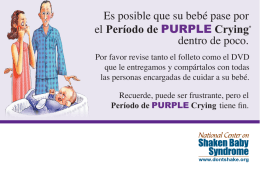 Es posible que su bebé pase por el Período de PURPLE Crying