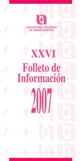 Folleto de Información - Departamento de Estadística Institucional