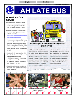 AH LATE BUS - Alamo Heights Independent School District