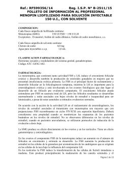 Menopin liofilizado para solución inyectable 150 U.I., con solvente