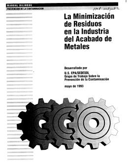 La Minimizacion de Residuos en la Industria del Acabado de Metales