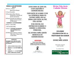 Folleto del Programa de la Fiesta Patronal 2011