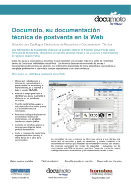 Documoto, su documentación técnica en la Web