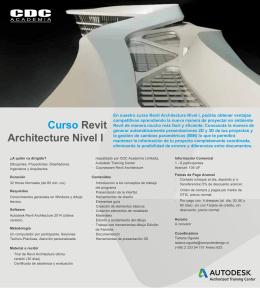 Folleto REVIT ARCH Nivel I