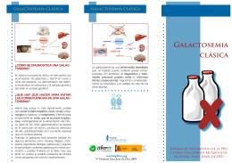 Galactosemia clásica