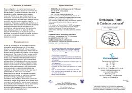 Embarazo, Parto & Cuidado posnatal