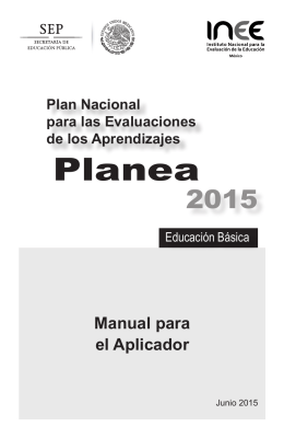 Manual para el Aplicador - Planea