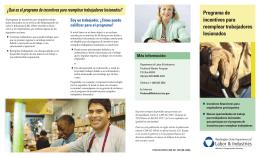 Programa de incentivos para reemplear trabajadores lesionados