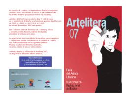 Folleto ArteLitera 07