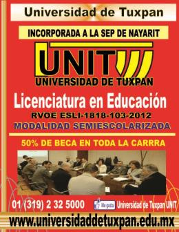 folleto informativo - UNIT