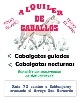 folleto alquiler caballos