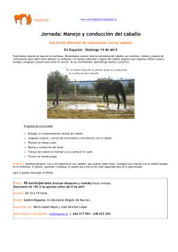 Jornada Manejo y conducción del caballo 2.