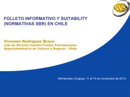 Folleto informativo y suitability (normativas SBR) en Chile