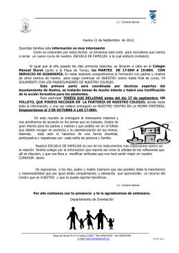 eSCUELA FAMILIAS PRINCIPIO - Cardenal Spínola
