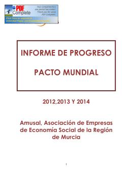 INFORME DE PROGRESO PACTO MUNDIAL