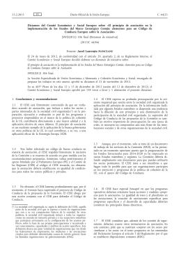 Dictamen del Comité Económico y Social Europeo sobre El
