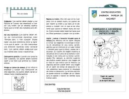 NO OLVIDES - Centro Educativo Sagrada Familia de Nazaret