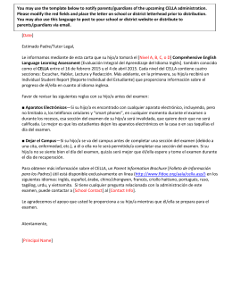 Parent/Guardian Notification Letter