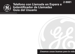 Telefono con Llamada en Espera e Indentificador de Llamadas Guía