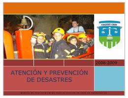 ATENCIÓN Y PREVENCIÓN DE DESASTRES
