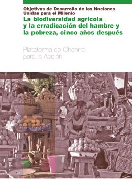 La biodiversidad agrícola y la erradicación del hambre y la pobreza