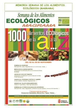 memoria semana de los alimentos ecológicos (magrama)