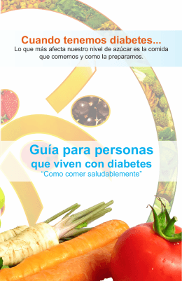 Diabetes y alimentación