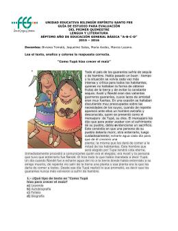 unidad educativa bilingüe espíritu santo fes guía de estudio para