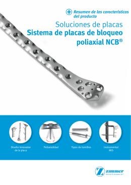 Folleto del sistema de placas de bloqueo poliaxiales NCB