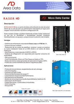 Folleto RASER HD (SP)
