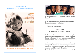 CONVOCATORIA XV Certamen Literario Padre Cosme Córdoba, 10