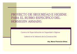 PROYECTO DE SEGURIDAD E HIGIENE PARA EL