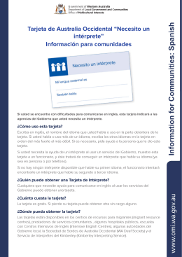 Information for Communities: Spanish