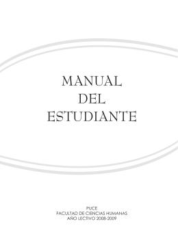 manual del estudiante - Pontificia Universidad Católica del Ecuador