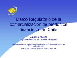 Marco regulatorio de la comercialización de productos financieros