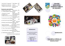 Descargar programación - Centro Educativo Sagrada Familia de