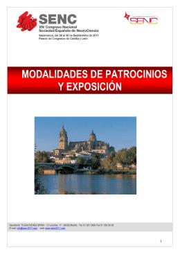 Manual de modalidades de exposición y patrocinios