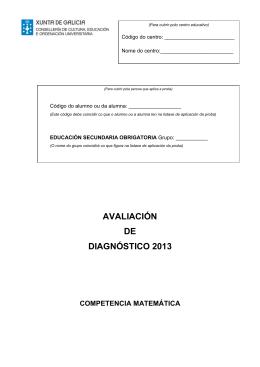 avaliación de diagnóstico 2013 competencia matemática