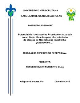 UNIVERSIDAD VERACRUZANA FACULTAD DE CIENCIAS