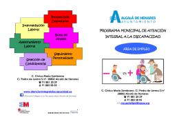 Folleto empresas - Atención Integral a la Discapacidad