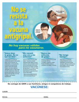 No se resista a la vacuna antigripal.