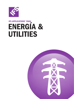 CATALOGO IFS - Folleto Energía & Utilities